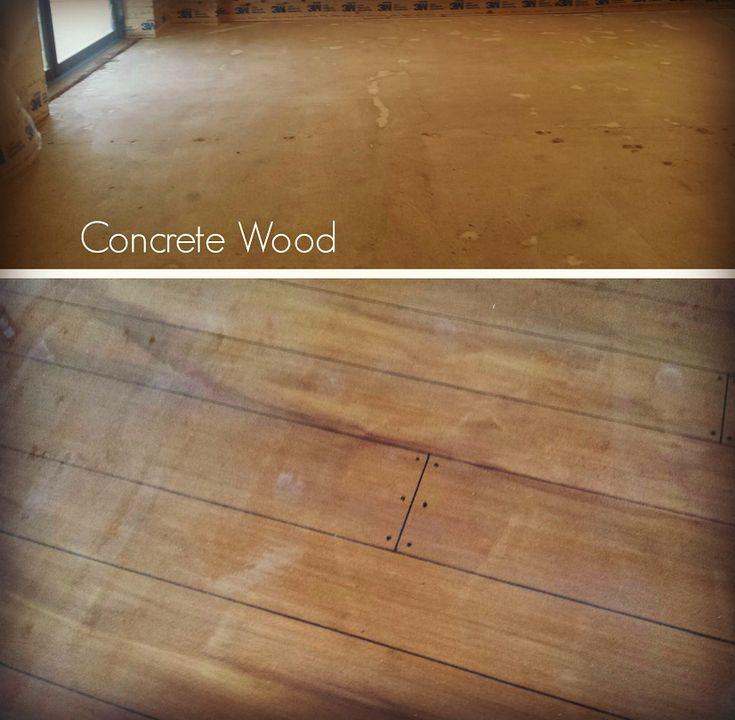 Faux Wood Stamped Concrete Floors : Best concrete wood floor ideas on pinterest