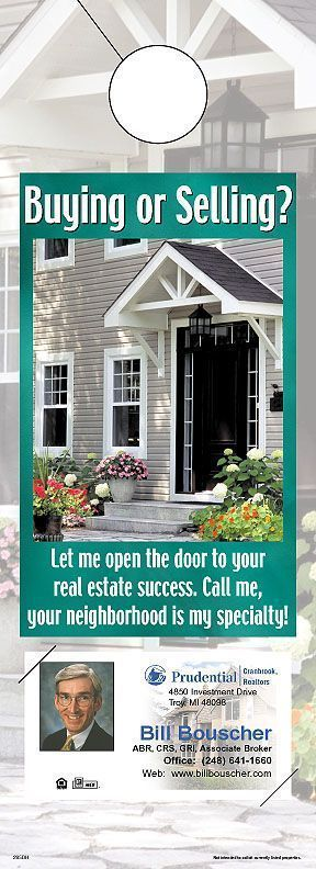ReaMark Real Estate Door Hanger - Get noticed in your neighborhood #realestate