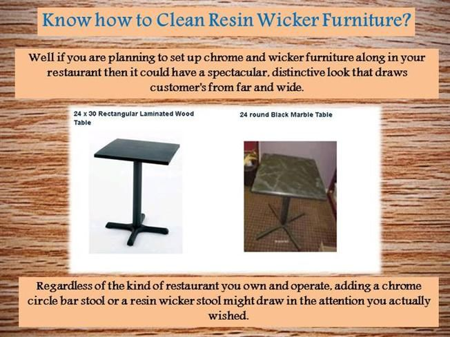 Know how to Clean Resin Wicker Furniture? by Aron_Murdock via authorSTREAM