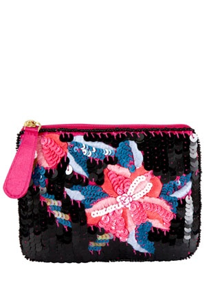 F Embellished Coin Purse