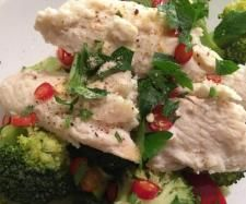 Paleo steamed Fish with broccoli and capsicum by Lovin' the Mix - A Thermomixin' love affair