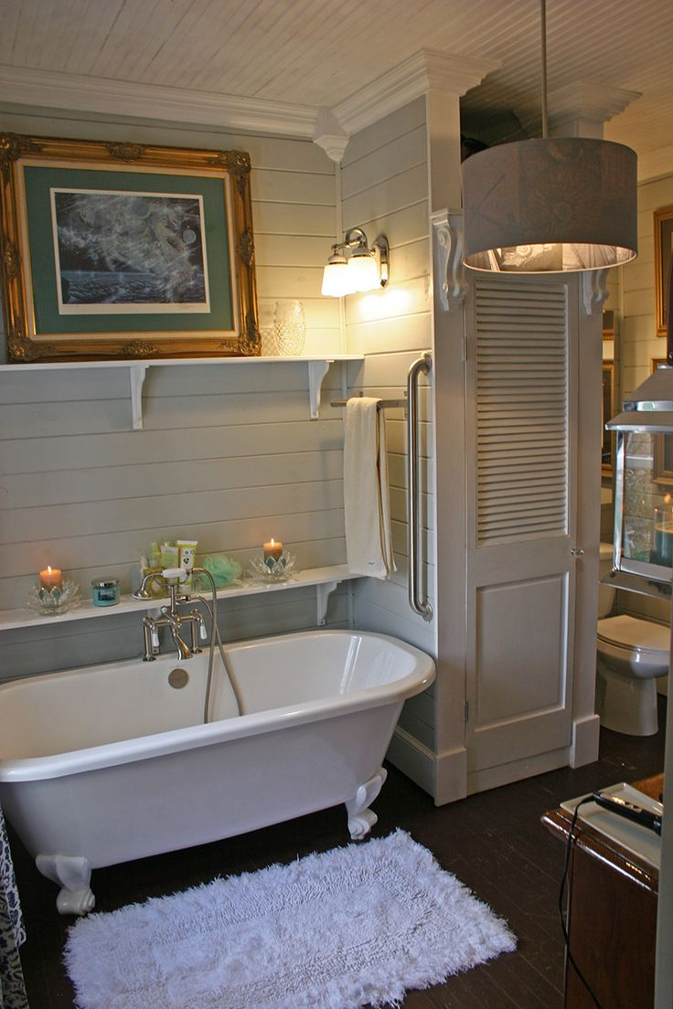 here is the tub area #clawfoot #tub #bathrooms #remodel. Painted Clawfoot  TubClawfoot Tub Bathroom SmallTubs For ...