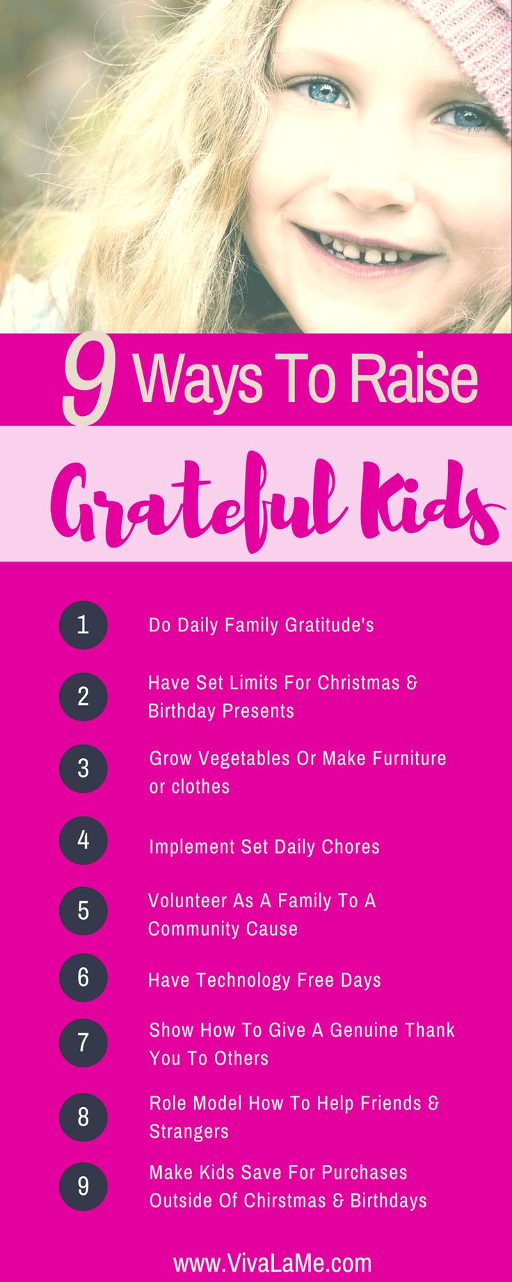Raising Grateful Children Not Entitled Children — VivaLaMe