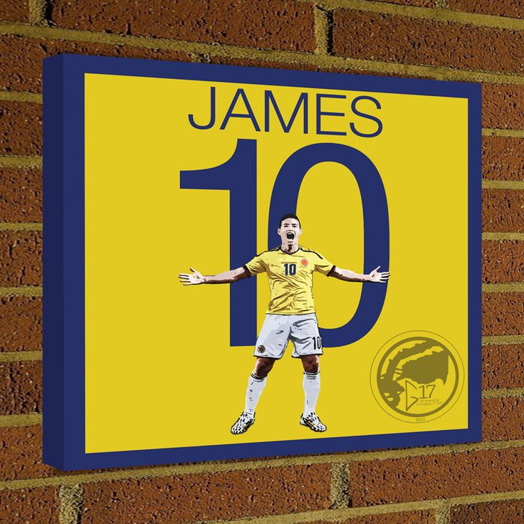 James Rodríguez Square Canvas Wrap Soccer Art Print Colombia Soccer Poster wall decor home decor James print, Football poster by Graphics17 on Etsy