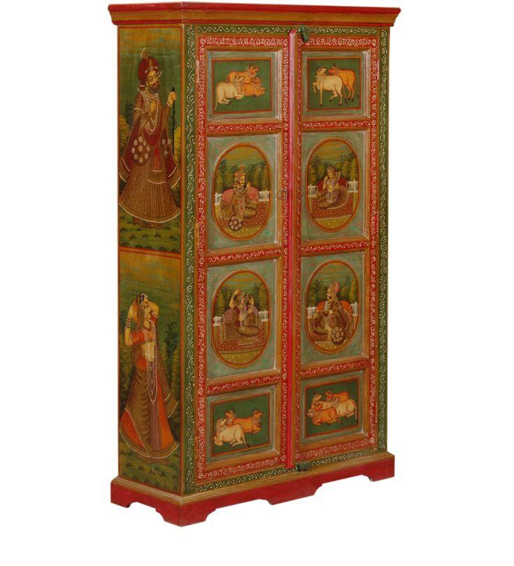 Armadio Due Porte Acacia Legno WD-6029152 X 88 X 35 CM   Arts of India – Italy