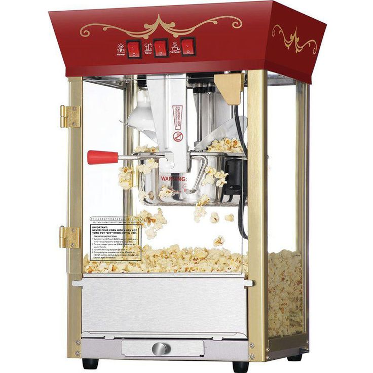 NEW Commercial Popcorn Popper Maker Machine Red Antique Fund Raising Event Movie #GreatNorthernPopcornCompany