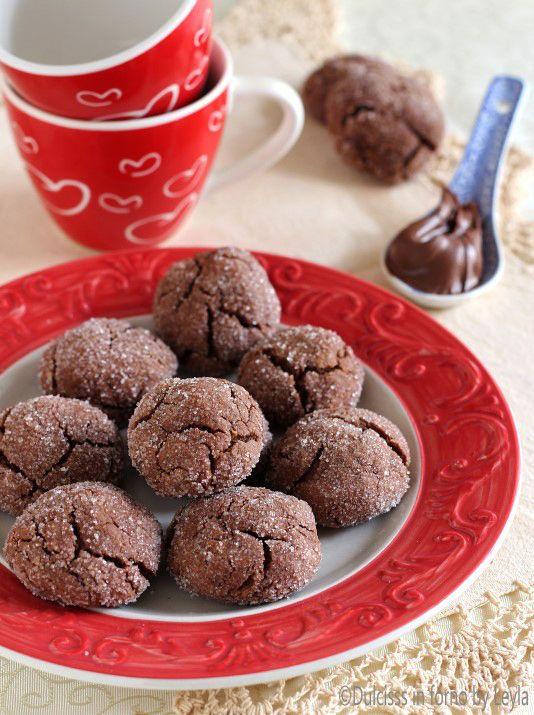 Biscotti alla Nutella veloci Dulcisss in forno by Leyla