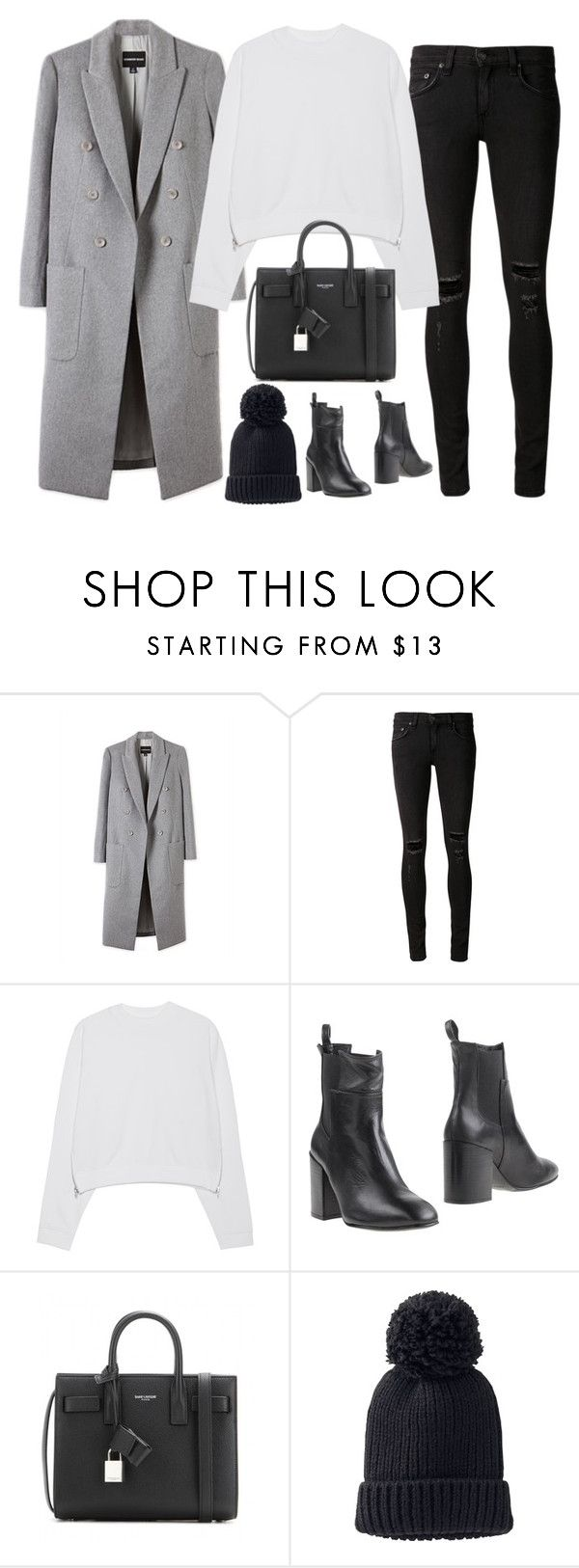 """Untitled#4169"" by fashionnfacts ❤ liked on Polyvore featuring rag & bone/JEAN, Acne Studios, Eqüitare, Yves Saint Laurent and Uniqlo"