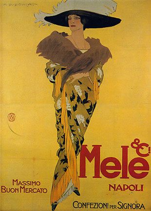 Mele& C.i ,  confezioni per signora, massimo buon mercato, Napoli - Marcello Dudovich