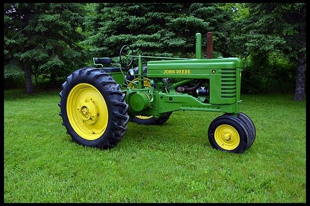 1948 John Deere A .The Model A & B tractors were updated in 1947 and according to John Deere they were brand new tractors.They got a new cyclonic engine and industry leading Powr Trol