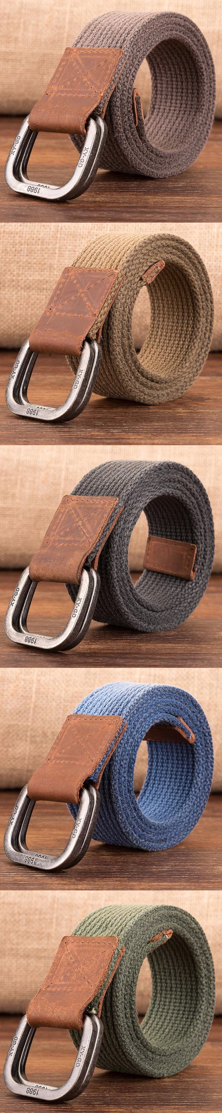 Luxury Men Belt Top Quality Outdoor Army Tactical Belts for Men Double Buckle Cowboy Knitted Strap Casual Nylon Cintos