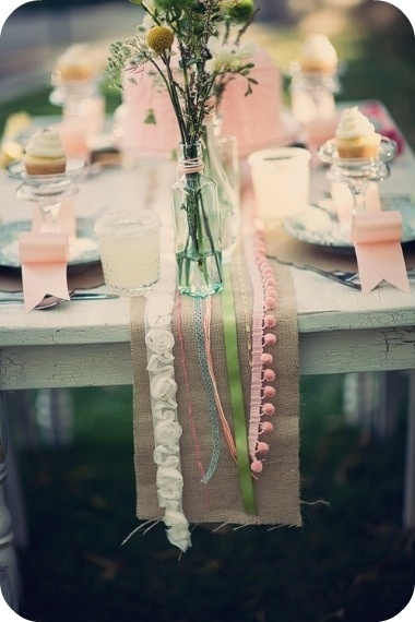 Cute little burlap runner...