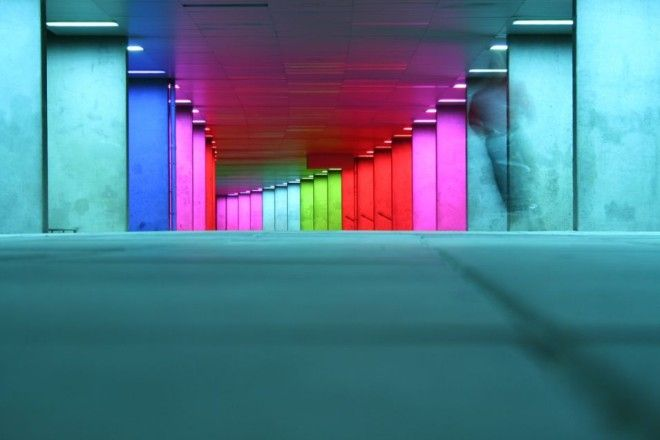Colors behind the Netherlands Architecture Institute, Rotterdam, Netherlands   1,000,000 Places