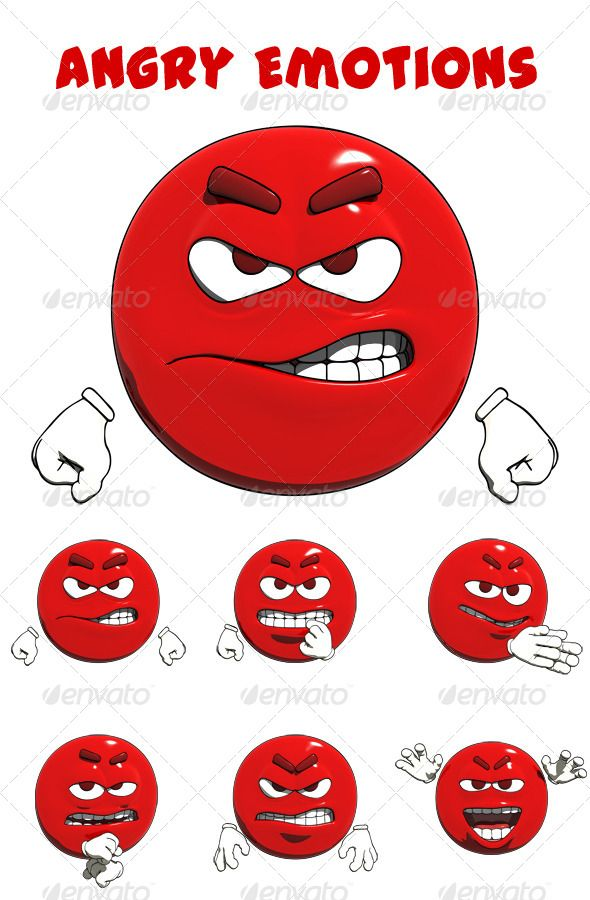 A non photo realistic render of angry emoticons. This file comes with six different layered renders (2000 2000 at 300 dpi). Inclu