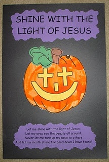 I think we are making these for our bulletin board!! Every child will have a pumpkin then have the words above and below all the pumpkins!!