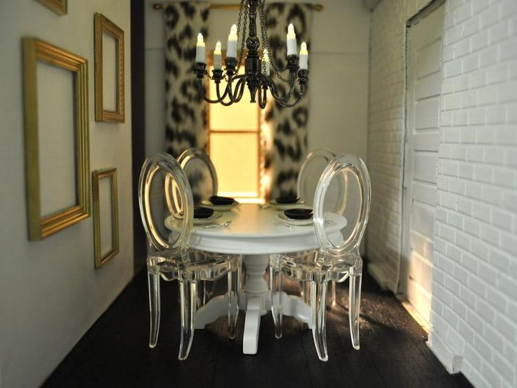 Romantic Ghost Chairs Dining Room | decor | Pinterest