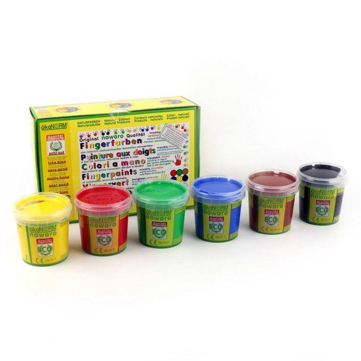 6x 150gr. Nawaro Fingerfarben, Naturprodukt. (100gr je Farbe 2,78) von Villa4Jahreszeiten auf Etsy