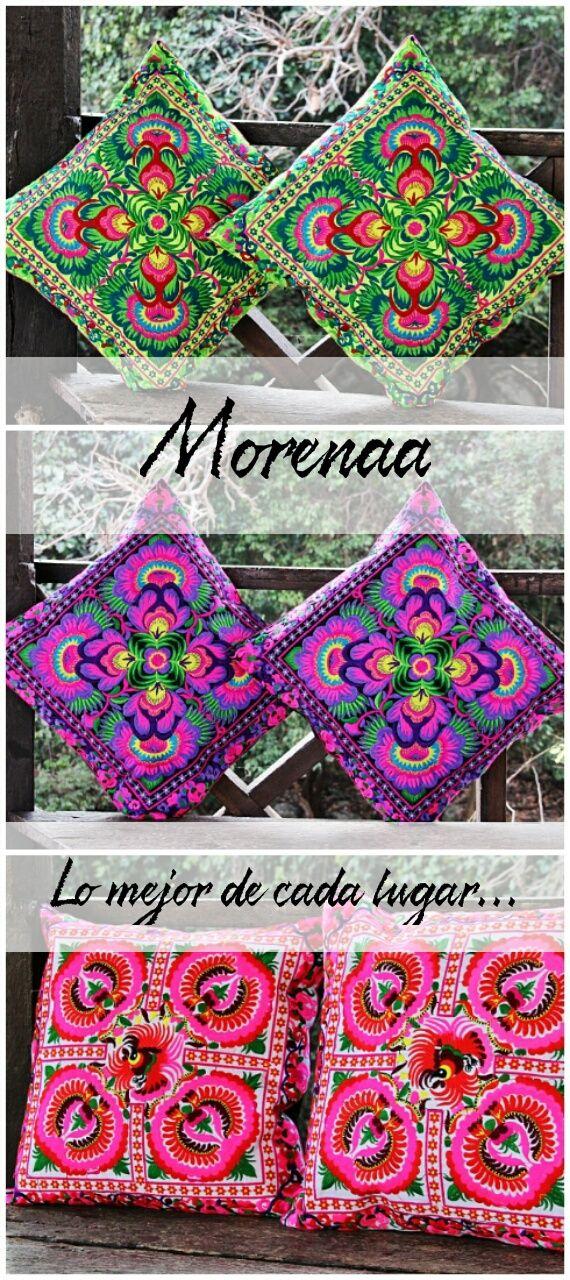 Cojines bordados, colores, diseños, Tailandia, Variedad de diseños, sigue tu tendencia, sigue tu color, sigue Morenaa ❂  #morenaa #lomejordecadalugar