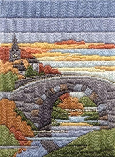 Autumn Evening Long Stitch (needlepoint) Kit from Derwentwater Designs