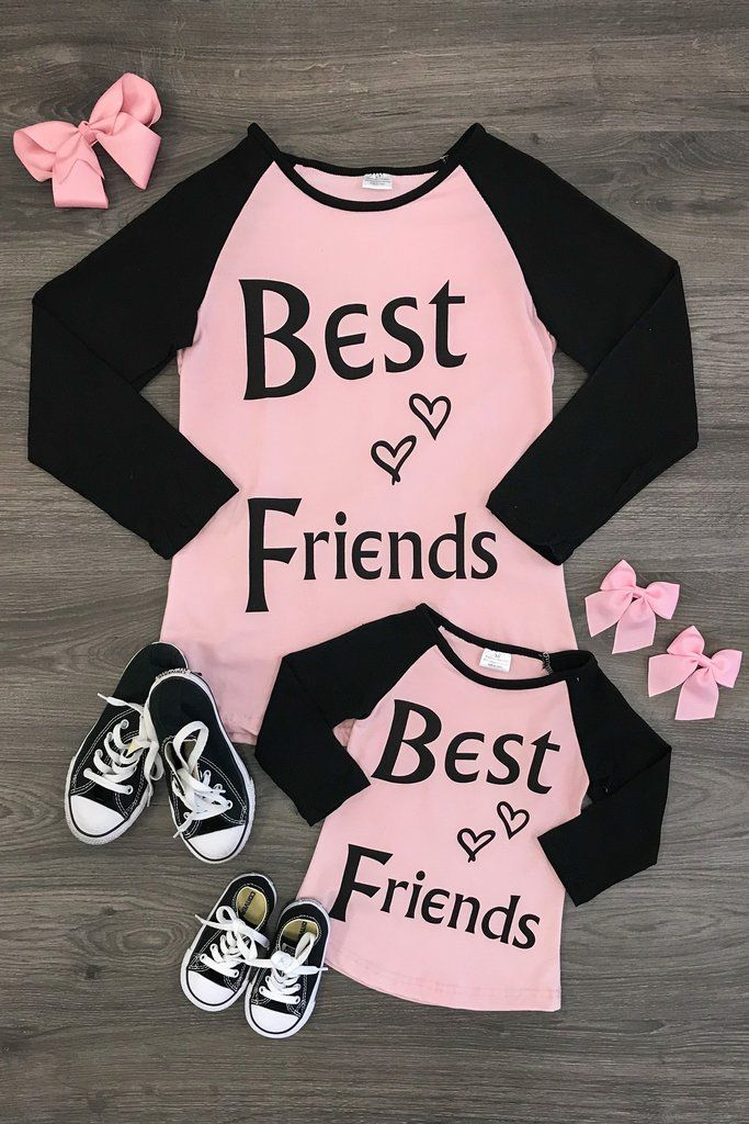 Mommys BFF Love Heart Cute Toddler//Kids Sweatshirts