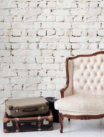 Whitewash Bricks Wallpaper (Roll: 72cm x 10m)