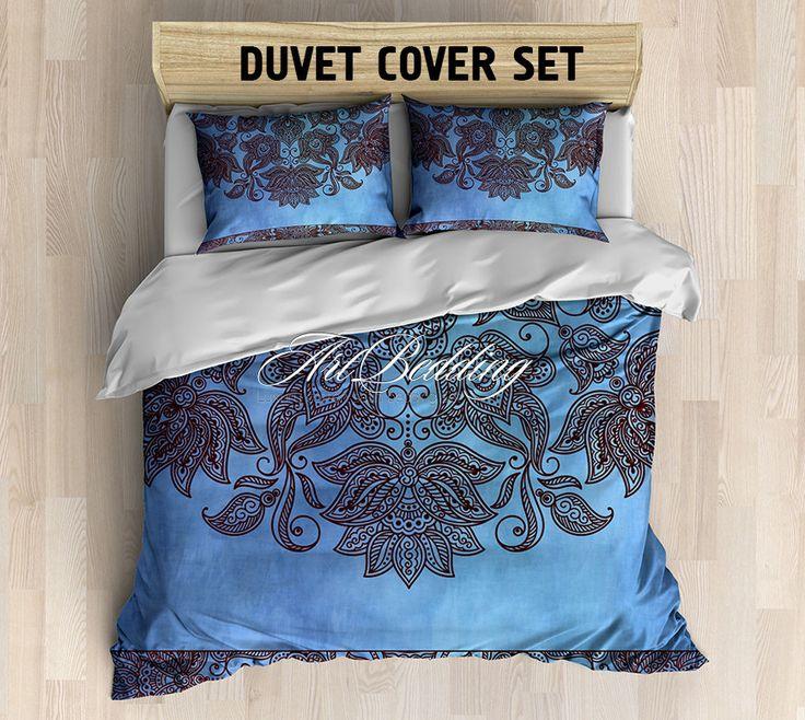 Bohemian bedding, Bohochic vintage bedding set, mandala duvet cover set, bohemian decor