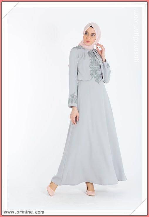 c5fdbedc9d414 Armine Tesettür Abiye Modelleri 2019 Lookbook | Abiye & Elbise Modelleri | Elbise  modelleri, Abayalar, Moda