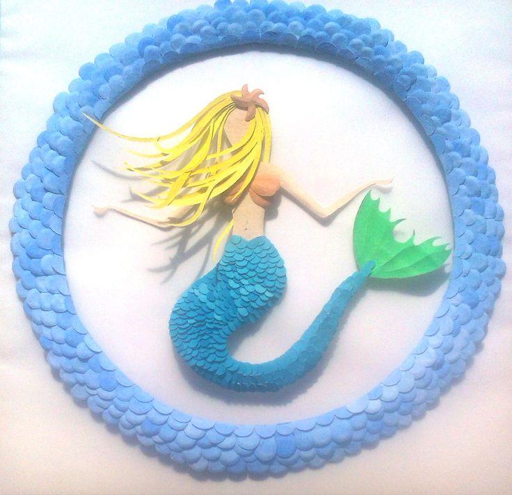 Mermaid Mandala Paper Sculpture