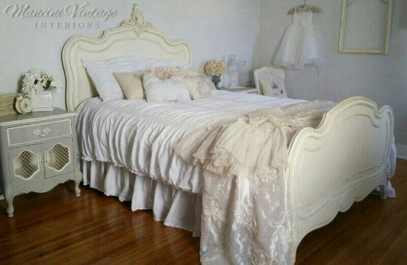 Sold! Authentic 1880's French Full Size Bed (headboard, footboard,  rails) (So. California, Vegas, Phoenix)