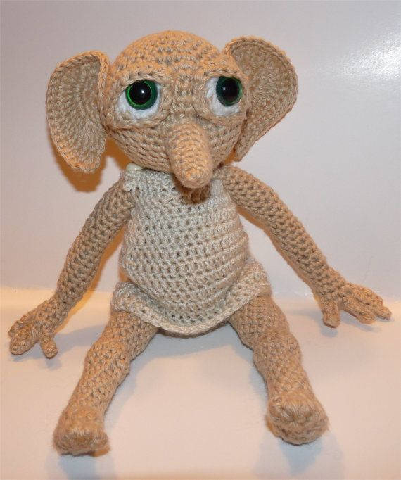 Knitting Pattern For Dobby The House Elf : Hobby the House Elf Plush - Made to Order The ojays ...