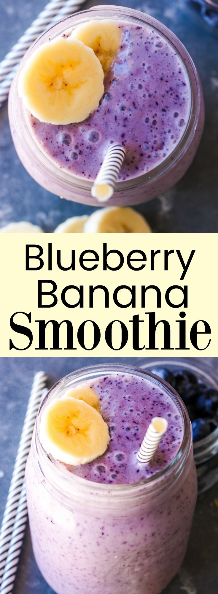Blueberry Banana Smoothie// Kathryn's Kitchen Blog
