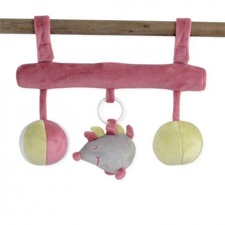 Chouette ! Une barre de jeux d'éveil pour bébé qui se fixe de partout !