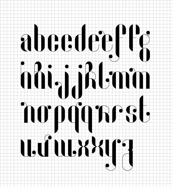 Lucie A - Une typographie Modulaire