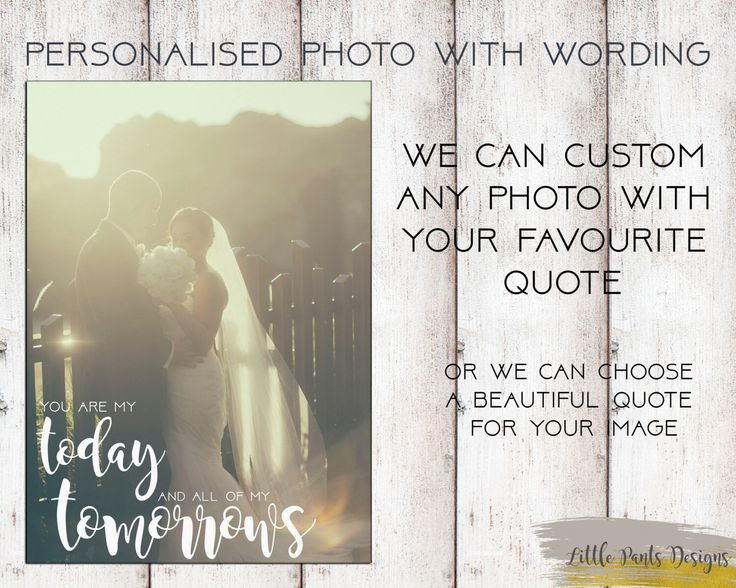 Personalised wedding Photo quote name WORDS Picture greeting Card/poster / Print Digital file by LittlePantsDesigns on Etsy https://www.etsy.com/listing/449577156/personalised-wedding-photo-quote-name