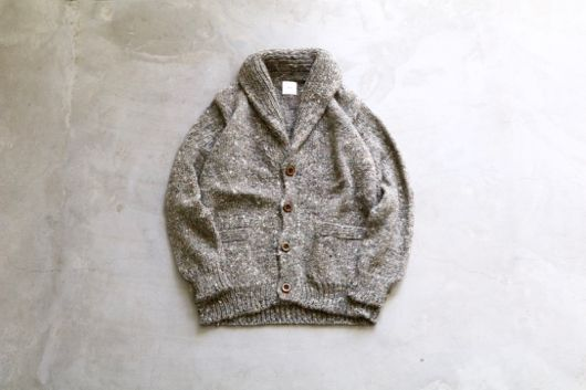 "ts (s) ""Shawl Collar Cardigan - Whirl Linen Silk Color Nep Knit -"""