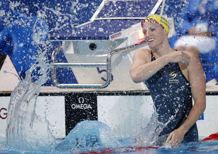 Emily Seebohm - double world champion in August and queen of World Cup backstroke and Commonwealth s/c record breaker after that - by Patrick B. Kraemer