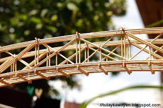 "Tulay na Kawayan: 24m ""Howe truss"" bamboo bridge model"