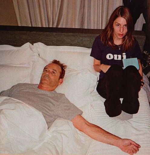"Lost in Translation // Bill Murray, Sofia Coppola // ""It's sometimes said of an actor that we can't see him acting. I can't even see him not acting. He seems to be existing, merely existing, in the situation created for him by Sofia."" - roger ebert"