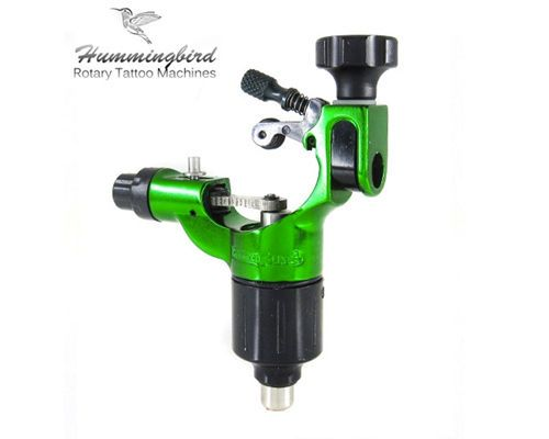 Tattoo Machines and Parts: Hummingbird Aluminum Rotary Tattoo Machine Rca Liner Shader Supply Ink (Green) BUY IT NOW ONLY: $149.99