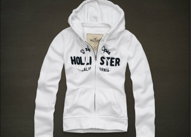 Details about Hollister Womens Hoodie Sweatshirt Zip Up or ...