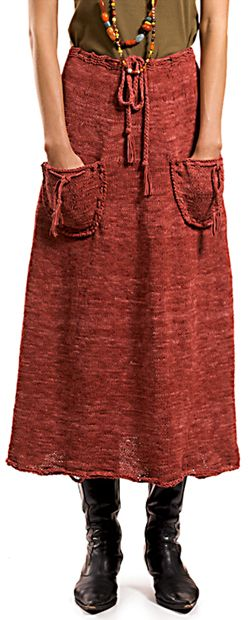 BROWNWIN skirt, FREE pattern! I am very into the boho vibe with this pattern- could even omit the pockets for a more conventional skirt, or pattern them for a more modern one.