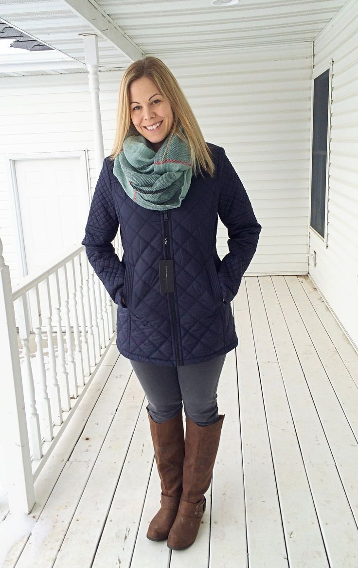 My Stitchfix January 2015 Review Reeda Quilted Puffer