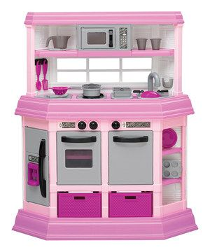Another great find on #zulily! Pink Play Kitchen by American Plastic Toys #zulilyfinds