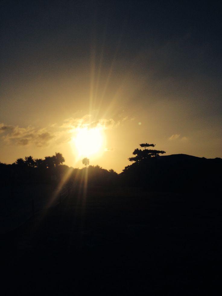 Maya Sunset, Yucatan, January 2015