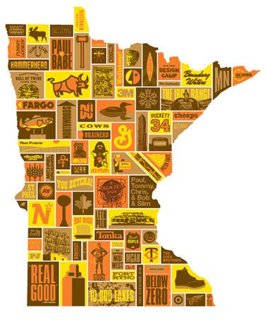 AWESOME Minnesota poster by Draplin Design: Minnesota Poster, Aaron Draplin, Favorite Places, Minneapolis, Art, Things, U.S. States, Sweet Home, Design