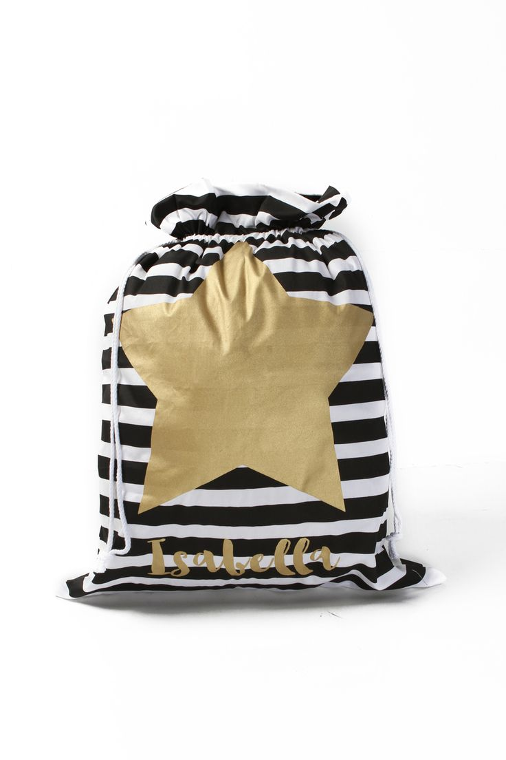 Sunny + Finn Stripe Personalised Star Santa Sack - A Little Bit of Cheek