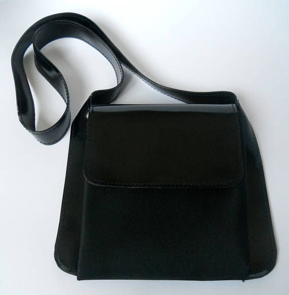 Shiseido Black mini bag 1990 small shoulder Bag