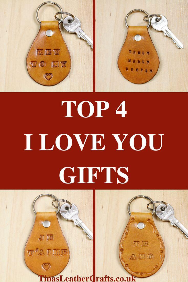 Handmade Keyrings, Leather Keyrings, I Love You Keyrings. Repin To Remember.