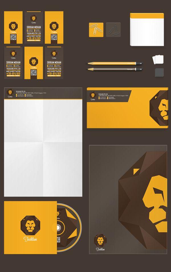 Techlion Corporate Branding Project by Lemongraphic , via Behance