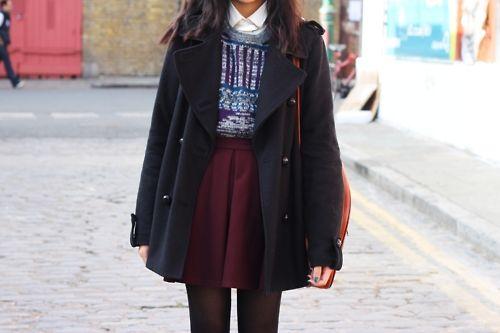 burgundy skirt | Tumblr